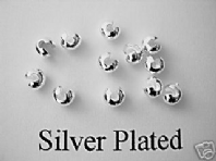 50 Silver Plated 4mm Crimp Cover Beads